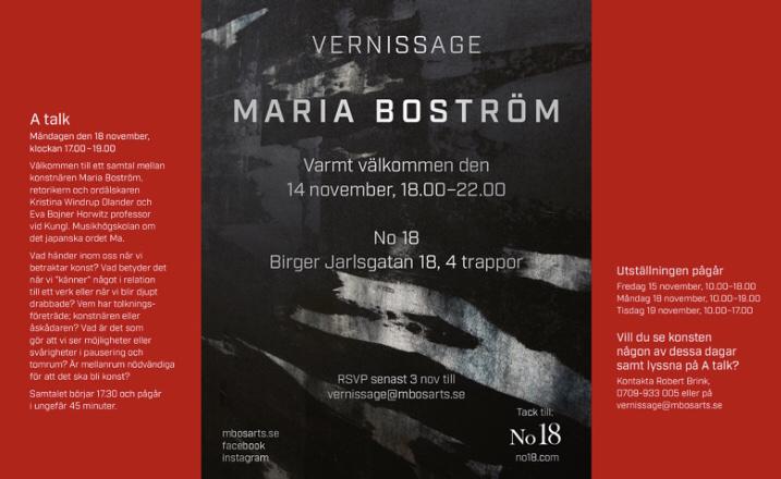 Vernissage 14/11-19 Maria Boström